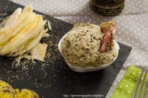 crema, finocchi, formaggio di anacardi, burro di semi