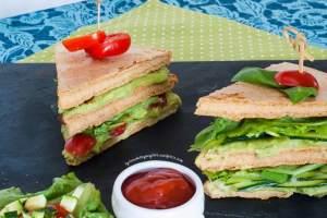 finger food proteico club sandwich proteine avena cucina finger food  vegan vegano proteine vegane naturali bio verdure secondi piatti